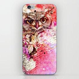 Watercolor Owl, Vintage Owl, Mixed Media Owl, Animal Owl, Bird Owl, Best Owl,Owl Print, Owl Painting iPhone Skin
