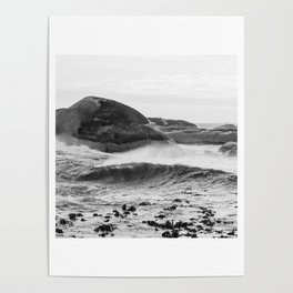 Wave Rushing In Poster