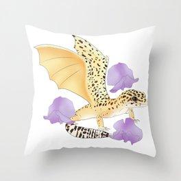 Poppy Dragon Throw Pillow