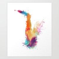 saxophone Art Prints featuring Saxophone by jbjart