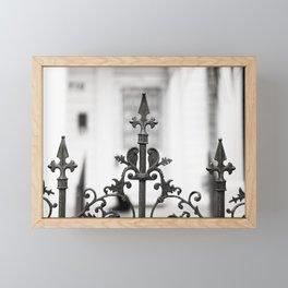 New Orleans Marigny Black and White Fence Framed Mini Art Print