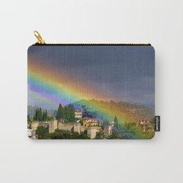Rainbow over Dar alHorra Palace at Granada. Spain Carry-All Pouch