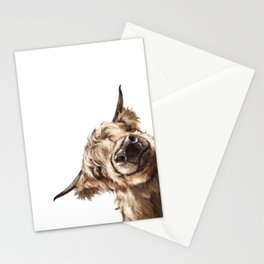 Sneaky Highland Cow Stationery Cards