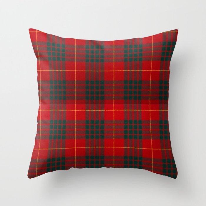 CAMERON CLAN SCOTTISH KILT TARTAN DESIGN Throw Pillow