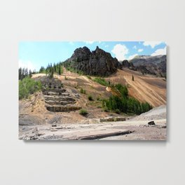 Sunnyside Mill at Eureka on the Alpine Loop, Remnant of the Gold Rush Metal Print