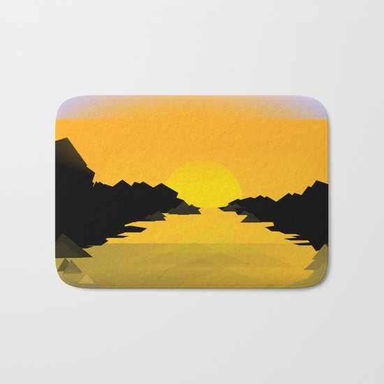Sunset on the sea Bath Mat