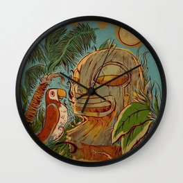 Island Chatter Wall Clock