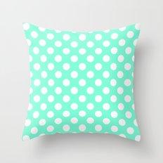 Tiffany Polka Dot Pattern Throw Pillow