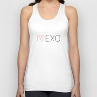exo Tank Tops featuring I LOVE EXO by 1004.store
