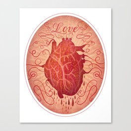 Anatomy of a Heart in Love Canvas Print
