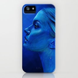 Blauw iPhone Case