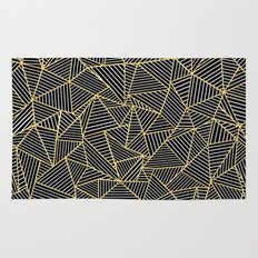 Ab Out Double Repeat Black Rug