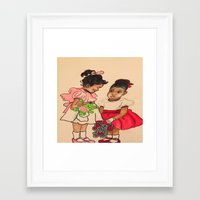 chile Framed Art Prints featuring Chile Boo by YMVA, LLC