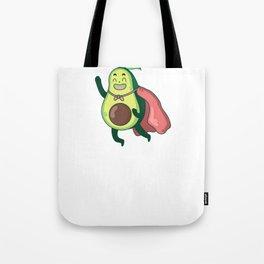Cartoon Avocado Hero in Flight Tote Bag
