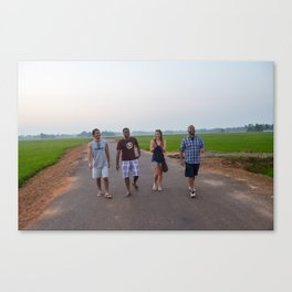 walking in kerala Canvas Print