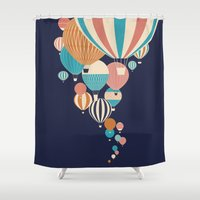 balloons Shower Curtains featuring Balloons by Jay Fleck