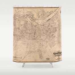 Map Of Louisville 1873 Shower Curtain