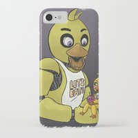fnaf iPhone & iPod Cases featuring FNAF Chicas by msaibee