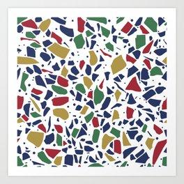 Terrazzo Spot Color on White Art Print
