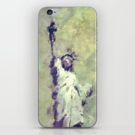 Textured Statue of Liberty iPhone Skin