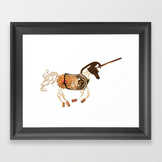 Steampunk Unicorn Framed Art Print