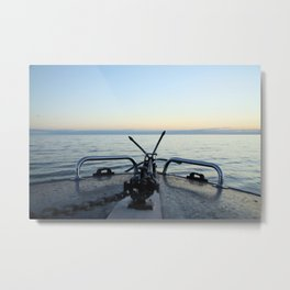 Boating Away Metal Print
