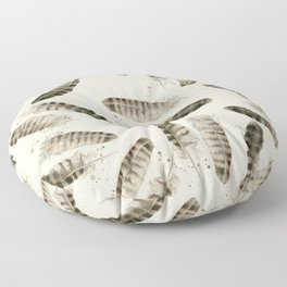Pheasant Feather 2 Floor Pillow