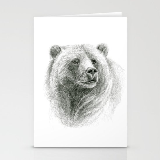 Grizzly Bear G2012-057 Stationery Cards