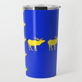 Graphic Swedish Elk Flag III Travel Mug