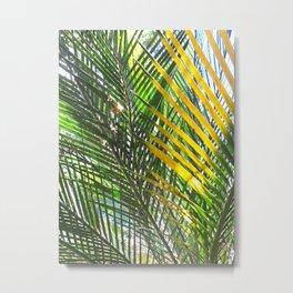 Golden Palm Metal Print