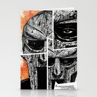 mf doom Stationery Cards featuring MF Doom by Crooked Octopus