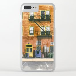 Lee Street Alley Clear iPhone Case