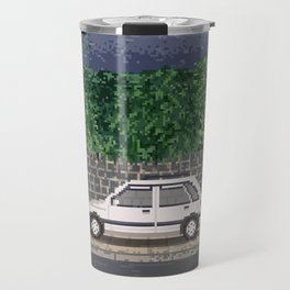 Rainy day / Pixel art Travel Mug
