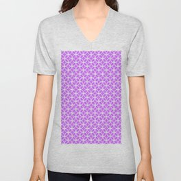 Trellis_Purple Unisex V-Neck