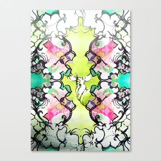 Kaleidoscope Deer Canvas Print