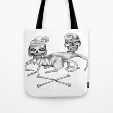 Bone Couple Tote Bag