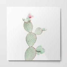 Cactus Neutral Metal Print
