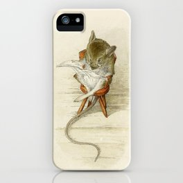 Grandfather Mouse Reading the Newspaper iPhone Case