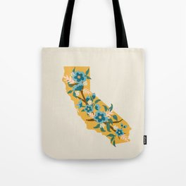 The Golden State of Flowers Tote Bag