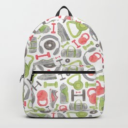 Gym Pattern Backpack