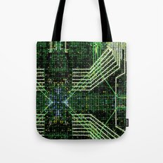 Circuit board very green zoom Tote Bag