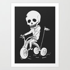Death Kid Bone Ride Art Print