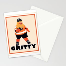 Gritty the new mascot of the Flyers in Philadelphia Stationery Cards