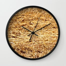 Ein Bett im Kornfeld / a bed in the hay Wall Clock
