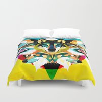 wolves Duvet Covers featuring wolves by Alvaro Tapia Hidalgo