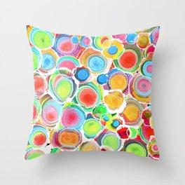 Sunshine on Your Spotty Mind (Alcohol Inks Series 07) Throw Pillow