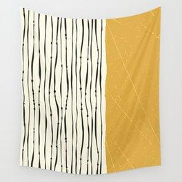Gold Zebra Stripes Wall Tapestry