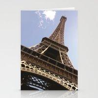 eiffel tower Stationery Cards featuring Eiffel Tower by caroline