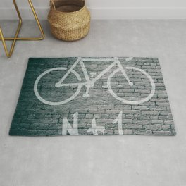 N + 1 Bike Graffiti Rug