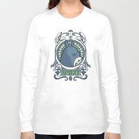 hallion Long Sleeve T-shirts featuring Forest Spirit Nouveau by Karen Hallion Illustrations
